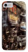 Train - Engine - 1218 - Norfolk Western - Class A - 1218 IPhone Case by Mike Savad