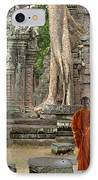 Tranquility In Angkor Wat Cambodia IPhone Case by Bob Christopher