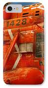 Transportation - Helicopter - Coast Guard Helicopter IPhone Case