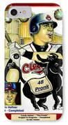 Travis Hafner Grand Slam IPhone Case by Ray Tapajna