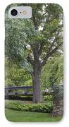 Tree And Bridge At Wharton Center IPhone Case by John McGraw