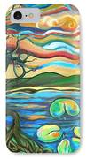 Tree And Lilies At Sunrise IPhone Case by Genevieve Esson