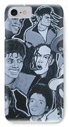 Tribute To Michael Jackson IPhone Case by Gary Niles