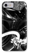 Tron Motor Cycle IPhone Case by Michael Hope