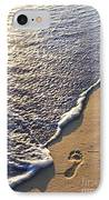 Tropical Beach With Footprints IPhone Case