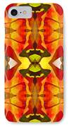 Tropical Leaf Pattern 2 IPhone Case by Amy Vangsgard