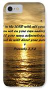 Trust In The Lord  IPhone Case by Barbara Snyder