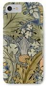 Tudor Roses Thistles And Shamrock IPhone Case by Voysey