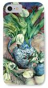 Tulips And Snowdrops IPhone Case by Julia Rowntree