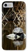 Turtle On Turtle IPhone Case by Ernie Echols