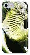 Tusk 1 - Dramatic Elephant Head Shot Art IPhone Case by Sharon Cummings