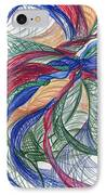 Twirls And Cloth IPhone Case by Kelly K H B