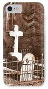 Two Crosses In Saint Lukes  IPhone Case by Artist and Photographer Laura Wrede