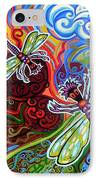 Two Dragonflies IPhone Case by Genevieve Esson