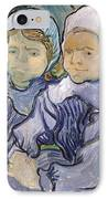Two Little Girls IPhone Case by Vincent Van Gogh