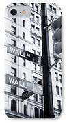 Two Times Wall St. IPhone Case by John Rizzuto