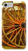 Two Wagon Wheels IPhone Case by Jeff Swan