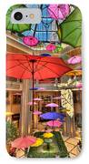 Umbrellas At Palazzo Shops IPhone Case by Amy Cicconi