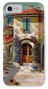 Un Cielo Verdolino IPhone Case by Guido Borelli