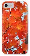 Under The Orange Maple Tree IPhone Case by Rona Black