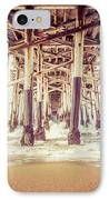 Under The Pier In Orange County California Picture IPhone Case by Paul Velgos