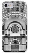 Union Station Lobby Black And White IPhone Case