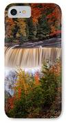 Upper Tahquamenon Falls II IPhone Case by Todd Bielby