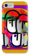Urban Spaceman IPhone Case by Charles Stuart