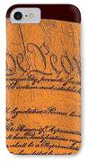 Us Constitution Closeup Sculpture Red Brown Background IPhone Case by L Brown