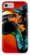 Valentino Rossi Portrait IPhone Case by Paul Meijering