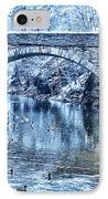Valley Green Ducks In Winter IPhone Case by Bill Cannon