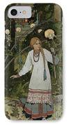Vassilissa In The Forest IPhone Case by Ivan Bilibin