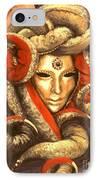 Venetian Mystery Mask IPhone Case by Michael Swanson