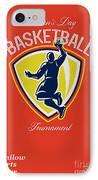 Veteran's Day Basketball Tournament Poster IPhone Case by Aloysius Patrimonio