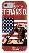 Veterans Day Greeting Card American IPhone Case