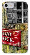 Victorian Boat Dock Sign IPhone Case by Adrian Evans