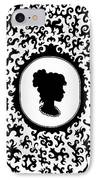 Victorian Cameo IPhone Case by Bonnie Leeman