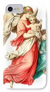 Victorian Scrap Relief Of The Christ Child IPhone Case