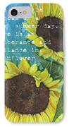 Vince's Sunflowers 1 IPhone Case by Debbie DeWitt