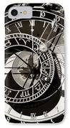 Vintage Astronomical Clock IPhone Case by John Rizzuto