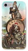 Vintage Celebrity Endorsement 1870 IPhone Case by Padre Art