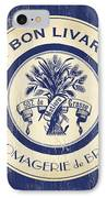 Vintage Cheese Label 6 IPhone Case by Debbie DeWitt