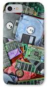 Vintage Computer Parts IPhone Case by Paul Ward
