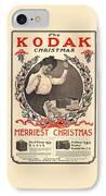 Vintage Kodak Christmas Card IPhone Case