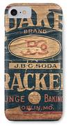 Vintage Quaker Crackers For The Kitchen IPhone Case by Lisa Russo