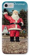 Vintage Santa Claus Christmas Card IPhone Case by Edward Fielding