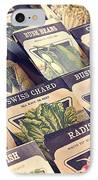 Vintage Seed Packages IPhone Case by Edward Fielding