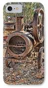 Vintage Steam Tractor IPhone Case by Douglas Barnard