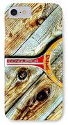 Vintage Tennis IPhone Case by Benjamin Yeager