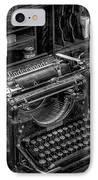 Vintage Typewriter IPhone Case by Adrian Evans